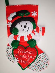 Finished 15 Christmas Stocking Snowmen Melt por JoysofChristmas