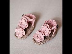 Como Hacer Sandalias para Niñas Tejidas a Ganchillo (Crochet) - YouTube