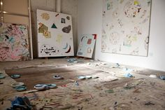 Rebecca Morris studio // In The Make