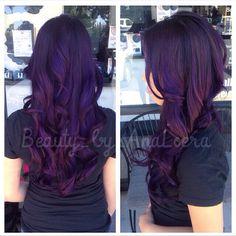 Violet balayage