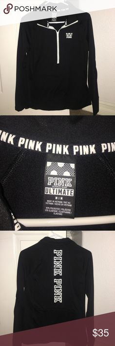 Pink Athletic Jacket Very good condition- lightly worn PINK Victoria's Secret Jackets & Coats