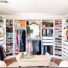 When we say dressing, we already imagine the shelves filled from floor to ceiling. But your dressing room is located in the attic, in a room under the roof … No panic! Walk In Closet Design, Bedroom Closet Design, Master Bedroom Closet, Design Room, Closet Designs, Bedroom Turned Closet, Diy Walk In Closet, Glam Closet, Master Bedrooms
