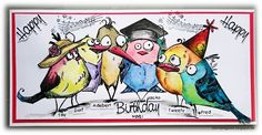 ' Stempelgaudi ': Bird Crazy - #11 - ... crazy 'Happy Birthday' ...