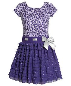 Bonnie Jean Kids Dress, Little Girls Ruffle Dress
