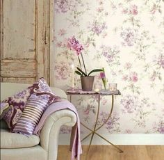 Shabby Chic Pink Paint Styles and Decors to Apply in Your Home – Shabby Chic Home Interiors Shabby Chic Interiors, Shabby Chic Bedrooms, Shabby Chic Furniture, Mirrored Wallpaper, Home Wallpaper, Cosy Interior, Interior Design, Interior Ideas, Interiores Shabby Chic