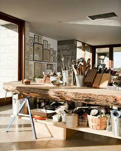 Een ECHTE houten werktafel