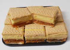 Prajitura cu biscuiti, mere si crema de vanilie - Bunătăți din bucătăria Gicuței Cake Recipes, Vegan Recipes, Romanian Food, Romanian Recipes, Cornbread, Yogurt, Cheesecake, Food Porn, Sweets