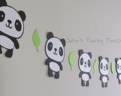 Panda Garland Panda Banner Panda by EndearingCreations3 on Etsy