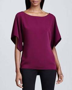 T Tahari Farrell Short-Sleeve Tunic on shopstyle.com