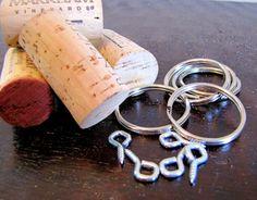 Cork Keychains... Nice wedding favor idea
