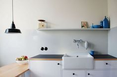 Easy fix. Change the top of kitchen and upstairs bathroom. Bruno Taut `Kitchen in Berlin | Remodelista