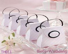 をピンク- 格子柄財布th011使用結婚式の好意のボックスの結婚式の装飾としてwholesale@beterweddingや結婚式の贈り物