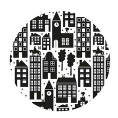 Cadeauzakjes Sint in the city zwart/wit 17 x 25 - inpakken Sinterklaas