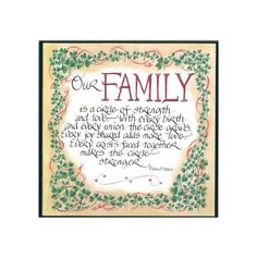 Our Family  Plaque - 10 x 10