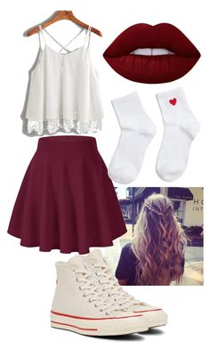 """""""Untitled #173"""" by emmalovesbooks2 ❤ liked on Polyvore featuring Converse, Forever 21 and Lime Crime"""