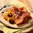 Sugar-Crusted French Toast with Honeyed Apples  http://www.epicurious.com/recipes/food/views/Sugar-Crusted-French-Toast-with-Honeyed-Apples-109158