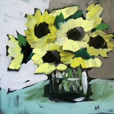 jar of sunflowers | angela moulton's painting a day