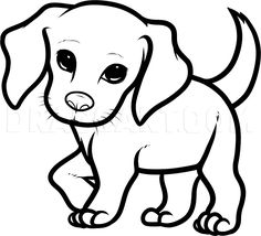 Free and printable beagle coloring pages for children are available on this page! Children adore dogs and they will be all excited to color these cute beagle dog coloring pages! Dog Drawing For Kids, Puppy Drawing Easy, Dog Drawing Simple, Drawing Tips, Drawing Drawing, Drawing Pictures, Easy Pictures To Draw, Drawing Ideas, Cute Animal Drawings