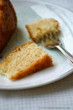 Eggless Vanilla Sponge Cake Recipe - Eggless Basic Vanilla Cake (no eggs no butter) | Indian Cuisine