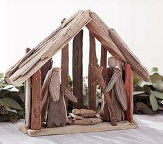 Driftwood Nativity Scene #pbkids