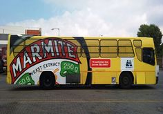 A Marmite bus in South Africa! Yeast Extract, Marmite, Busses, South Africa, Vehicles, Extensions, Truck, Places, Funny