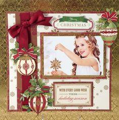Anna Griffin Christmas #scrapbookideas
