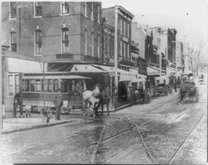 Washingtobn Streetcar at Wisconsin Avenue and O Street NW (1893) (Ghosts of DC).