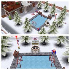 Christmas Sims Freeplay Original House Design OUTSIDE