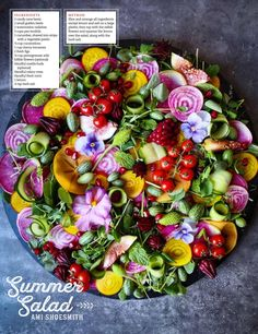 Healthy Fruits, Fruits And Veggies, Healthy Eating, Salad Design, Salad Recipes, Vegan Recipes, Flower Food, Food Platters, Food Inspiration