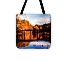"Autumn afternoon wears on Tote Bag 13"" x 13"""