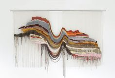 Ana Teresa Barboza und ihre malerische Stickerei Ana Teresa Barboza and her picturesque embroidery Art Fibres Textiles, Textile Fiber Art, Weaving Textiles, Weaving Art, Tapestry Weaving, Textile Artists, Hand Weaving, Textile Tapestry, Woven Wall Hanging