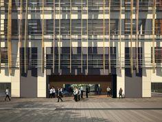 Building Design of Holland Park School London Main Loby View