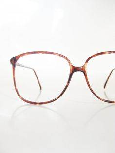 Vintage Tura Oversized Dark Brown Amber 1980s Womens Wayfarer Glasses 80s Eyeglasses Indie Hipster Chic Boho Bohemian Deadstock New