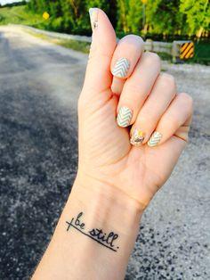 My favorite❤️tattoo❤️ - My favorite❤️tattoo❤️ - Dreieckiges Tattoos, Bible Tattoos, Quote Tattoos Girls, Body Art Tattoos, Temporary Tattoos, Tatoos, Small Cross Tattoos, Ankle Tattoo Small, Small Tattoos