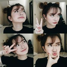 She so pretty😗😬 Ulzzang Girl Selca, Ulzzang Short Hair, Ulzzang Korean Girl, Cute Korean Girl, Asian Girl, Girl Photography Poses, Tumblr Photography, Cute Girl Face, Uzzlang Girl