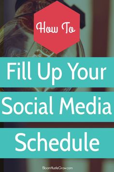 How To Fill Up Your Social Media Schedule: What to share and smart ways to curate content for your audience that will save you time. Plus a worksheet to get you started on planning what of your personal content you will share.