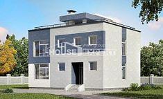 180-005-П Проект двухэтажного дома, современный дом из блока