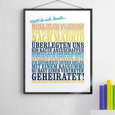 """""""Weisst du noch, damals..."""" - Poster: Persönliche Geschenkidee für Frauen und Männer"""