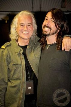 Jimmy Page and David Grohl...great pic!                                                                                                                                                                                 More