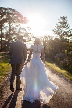 Cherish by Suzanne Neville Dress Bride Fun Filled Peachy Country Barn DIY Wedding http://binkynixon.com/