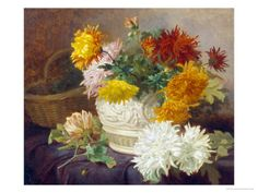 Still Life of Chrysanthemums by Eloise Harriet Stannard