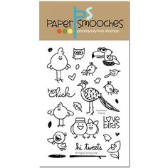 Paper Smooches FEATHERED FRIENDS Clear Stamps SES272