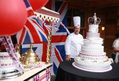 Wittamer's splendid royal cake at the Jubilee celebrations in Belgium (www.facebook.com/ukinbelgium) Royal Cakes, Hm The Queen, Queen Of England, Macarons, Belgium, Celebrations, British, Tea, Facebook