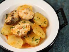 Рыба с картофелем в чесночном соусе — Кулинарный Рай