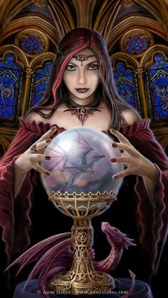 Crystal Ball by Anne Stokes