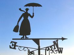 While I was looking around the web for some info on Mary Poppins, I ran into this great website that forges weathervanes. Mary Poppins, Azul Vintage, Weather Vanes, Shop Signs, Disney Love, Fan Art, Cool Stuff, Inspiration, Movies