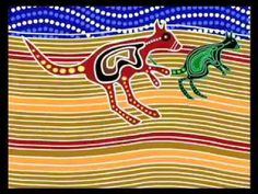 #6 DREAMTIME AUSTRALIA Animated Aboriginal Dot paintings art education elementary video on YouTube (sadly it is cut off abruptly!)