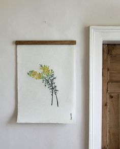 A print of the shrub Gorse, native to Ireland, by Irish design studio Superfolk hangs beside a doorway. See Favorite Botanical Illustrations: Our 10 Best Sources for Vintage and New over on Gardenista. Vintage Botanical Prints, Vintage Prints, Botanical Art, Botanical Illustration, Illustration Art, Illustrations, Gift Maker, Irish Design, Botany
