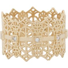 Grace Lee Gold Lace Crown Ring at Barneys.com