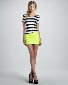 #Neiman Marcus            #Skirt                    #Leather #Mini #Skirt     Leather Mini Skirt                                  http://www.seapai.com/product.aspx?PID=519007